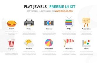 Flat Jewels - Free Icons Set PSD