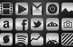 Metallic HD Icons Set