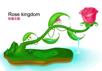Rose Kingdom Illustration Vector 01