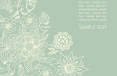 Vintage Styled Vector Flower Pattern Background 01