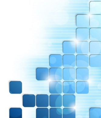Modern Abstract Blue Boxes Background Vector