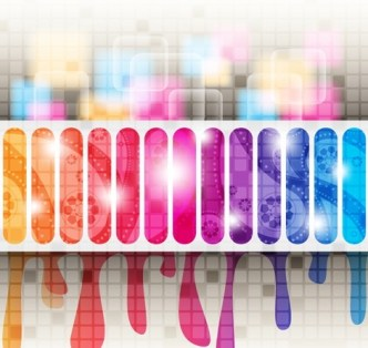 Stylish & Colorful Painting Vector Background