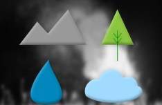 4 Simple Weather Icons PSD