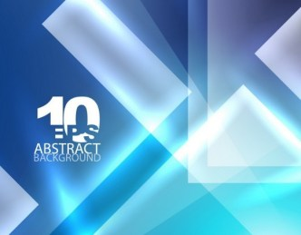 Glowing Blue Abstract Shapes Background 04