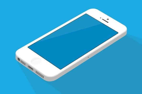 Flat White iPhone 5 Mockup (AI+PSD)