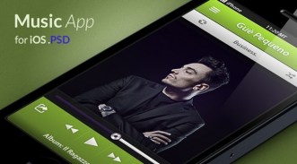Modern Music App For iPhone PSD