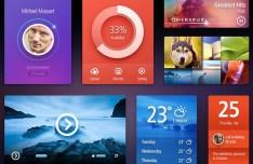 Stylish UI Design Components PSD
