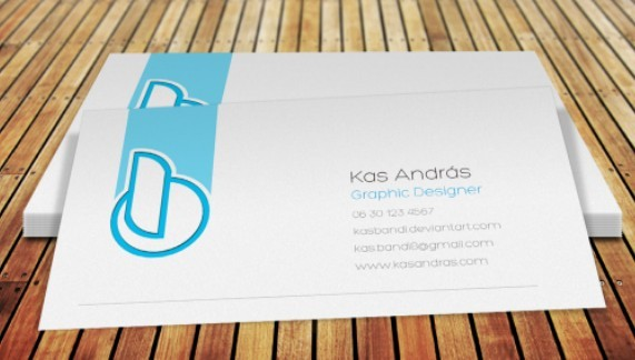 Clean White Business Card PSD Mockup