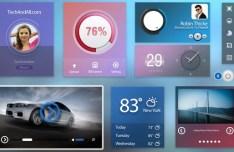 Cold Color Web UI Kit PSD