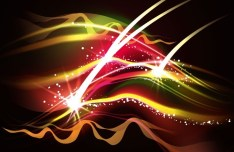 Colorful Abstract Lights Background Vector 01