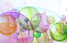 Romantic Abstract Soap Bubbles Background Vector 03