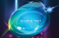 Vector Colorful Abstract Bubbles