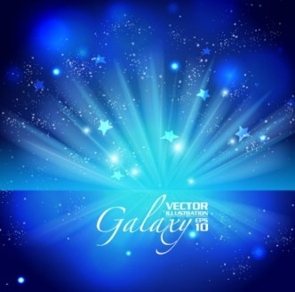 Blue Light Galaxy Vector Background 02