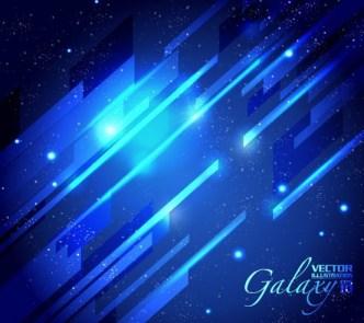 Blue Light Galaxy Vector Background 03