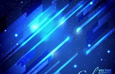 Blue Light Galaxy Vector Background 03