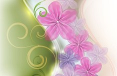 Fresh & Bright Floral and Flower Background Vector 01