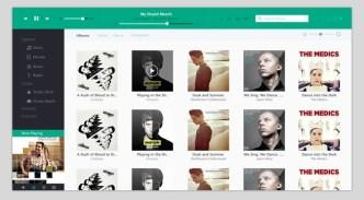 Metro Style iTunes Interface PSD