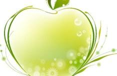 Green Apple Of Flowers Vector