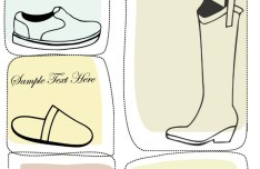 Set Of Vector Hand Drawn Shoe Labels 02