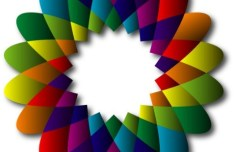 Colorful Abstract Flower Circle Vector