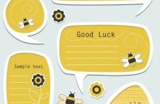 Set Of Vector Lovely Cartoon Text Frames 04