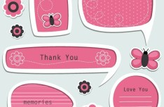 Set Of Vector Lovely Cartoon Text Frames 05