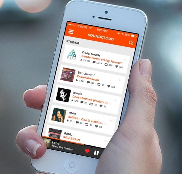 SoundCloud iOS 7 Concept PSD