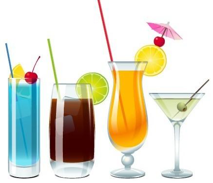 Vector Delicious Fruit Juices