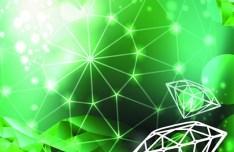 Vector Green Diamond Background 03