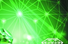 Vector Green Diamond Background 04