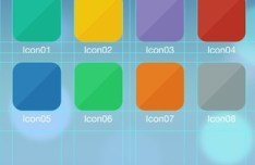 iOS 7 Icon Grid Template PSD