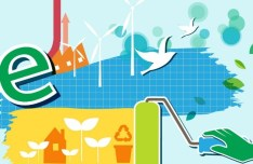 ECO & Green Energy Concept Vector Illustration 04