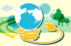 ECO & Green Energy Concept Vector Illustration 09