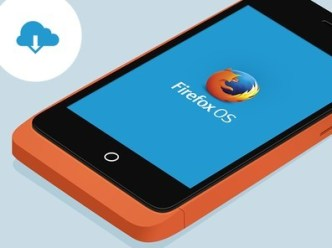 Flat Firefox OS Keon Perspective View PSD Mockup