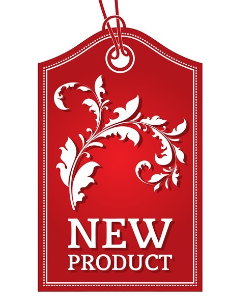 Red New Product Sticker Tag Vector 02