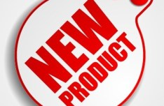 Red New Product Sticker Tag Vector 03