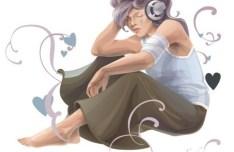 Music Girl Vector Illustration