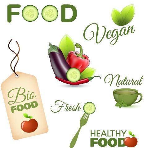 Set Of Vector Fresh Natural Healthy Food Icons 01
