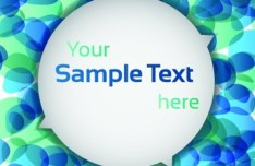 White Circular Text Frame With Colored Halos Background Vector 01