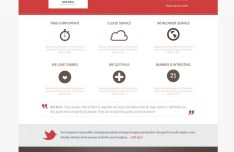 Red and White Business Website Template PSD