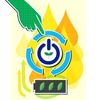 Vector Illustration of Green Energy Concept For Environmental Protection 01