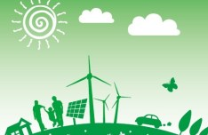 Vector Illustration of Green Energy Concept For Environmental Protection 08