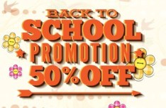 Clean Back To School Sale Flyer Template Vector 06