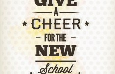 Happy New School Year Vector Illustration 02