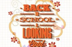 Vector Illustration Of Back To School & Looking Cool 03