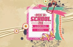 Vector Illustration Of Back To School & Looking Cool 05