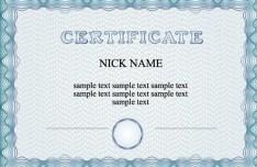 Simple Blue Vector Certificate Template