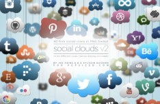 Social Clouds Icon Set