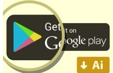 Get It On Google Play Button Vector