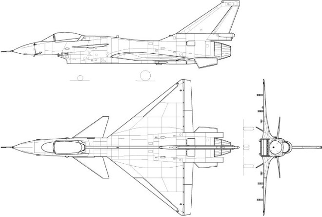 Vector Chengdu J-10 Fighter Aircraft Perspective